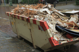 Loaded dumpster